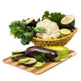 φρέσκα λαχανικά καλαθιών Στοκ εικόνες με δικαίωμα ελεύθερης χρήσης