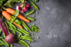φρέσκα λαχανικά πιπεριών αραβόσιτου καρότων ανασκόπησης cabbadge Στοκ Εικόνες