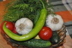 Φρέσκα λαχανικά στον πίνακα Στοκ εικόνα με δικαίωμα ελεύθερης χρήσης