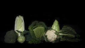 Φρέσκα λαχανικά στο μαύρο υπόβαθρο Στοκ Φωτογραφία