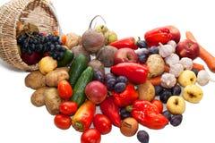 Φρέσκα λαχανικά, φρούτα και άλλα τρόφιμα Στοκ φωτογραφία με δικαίωμα ελεύθερης χρήσης
