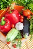 Φρέσκα λαχανικά (ratatouille συστατικά) Στοκ Φωτογραφία