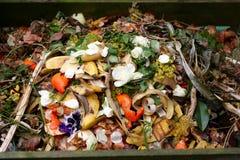 Φρέσκα βιο-απόβλητα και λίπασμα Στοκ Εικόνα