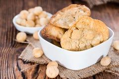Φρέσκα γίνοντα Macadamia μπισκότα Στοκ Εικόνες