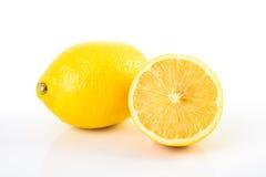φρέσκα λεμόνια κίτρινα Στοκ Εικόνες