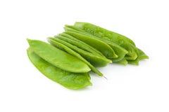 Φρέσκα επίπεδα πράσινα φασόλια Στοκ φωτογραφία με δικαίωμα ελεύθερης χρήσης