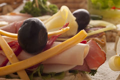 Φρέσκα εύγευστα σάντουιτς Στοκ Εικόνα