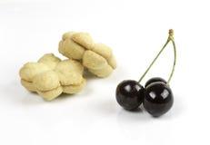 Φρέσκα εύγευστα σκούρο κόκκινο φρούτα κερασιών Στοκ φωτογραφία με δικαίωμα ελεύθερης χρήσης