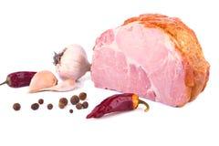 Φρέσκα ζαμπόν και καρυκεύματα χοιρινού κρέατος Στοκ Φωτογραφία