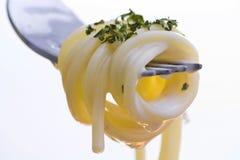 φρέσκα ζυμαρικά δικράνων Στοκ φωτογραφία με δικαίωμα ελεύθερης χρήσης