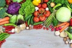 Φρέσκα ζωηρόχρωμα λαχανικά και διάστημα αντιγράφων Στοκ εικόνες με δικαίωμα ελεύθερης χρήσης