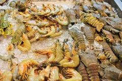 Φρέσκα θαλασσινά, κατάστημα αντίθετο, Pattaya, Ταϊλάνδη Στοκ Εικόνες