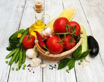 φρέσκα θερινά λαχανικά Στοκ φωτογραφίες με δικαίωμα ελεύθερης χρήσης