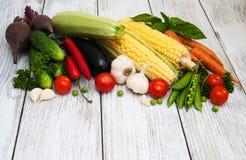φρέσκα θερινά λαχανικά Στοκ Εικόνες