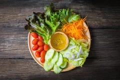 φρέσκα ιαπωνικά λαχανικά σαλάτας τροφίμων Στοκ Φωτογραφίες