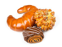 Φρέσκα και νόστιμα κουλούρια με με τους σπόρους σουσαμιού και παπαρουνών, bagel πνεύμα Στοκ εικόνα με δικαίωμα ελεύθερης χρήσης