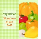 Φρέσκα και νόστιμα λαχανικά για το σχέδιό σας Στοκ Εικόνα