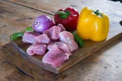 Φρέσκα κομμάτια χοιρινού κρέατος Στοκ εικόνες με δικαίωμα ελεύθερης χρήσης