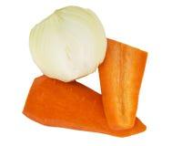 φρέσκα κρεμμύδια καρότων στοκ εικόνα