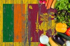 Φρέσκα λαχανικά από τη Σρι Λάνκα στον πίνακα r στοκ φωτογραφίες