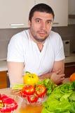 φρέσκα λαχανικά ατόμων κο&upsil Στοκ εικόνα με δικαίωμα ελεύθερης χρήσης