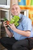 φρέσκα λαχανικά ατόμων Στοκ εικόνες με δικαίωμα ελεύθερης χρήσης
