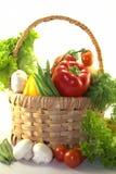 φρέσκα λαχανικά καλαθιών Στοκ εικόνα με δικαίωμα ελεύθερης χρήσης
