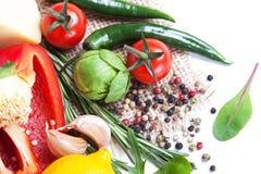 φρέσκα λαχανικά καρυκευμάτων Στοκ Φωτογραφία