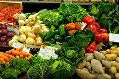 Φρέσκα λαχανικά στην αγορά Αλγκάρβε Loule στοκ φωτογραφία με δικαίωμα ελεύθερης χρήσης