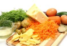φρέσκα λαχανικά τυριών στοκ εικόνα με δικαίωμα ελεύθερης χρήσης