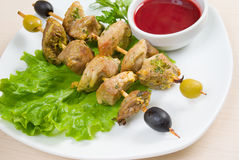 φρέσκα λαχανικά kebab Στοκ φωτογραφία με δικαίωμα ελεύθερης χρήσης