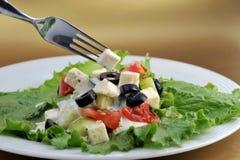 φρέσκα λαχανικά salat φέτας τυ&rho Στοκ Εικόνες