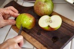 Φρέσκα μήλο και καρότο Στοκ Εικόνα