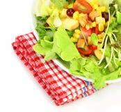 φρέσκα μικτά λαχανικά σαλά&tau Στοκ Εικόνα