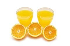 φρέσκα μισά πορτοκάλια απ&omic Στοκ Εικόνες