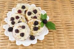 Φρέσκα μπισκότα βατόμουρων Στοκ φωτογραφίες με δικαίωμα ελεύθερης χρήσης
