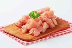 φρέσκα οβελίδια κοτόπουλου Στοκ εικόνες με δικαίωμα ελεύθερης χρήσης