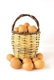 Φρέσκα οργανικά αγροτικά αυγά Στοκ Εικόνα