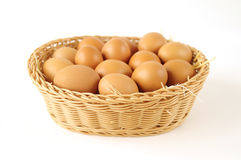 Φρέσκα οργανικά αγροτικά αυγά Στοκ Φωτογραφία