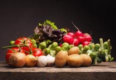 Φρέσκα οργανικά λαχανικά, υγιή τρόφιμα Στοκ Φωτογραφία