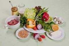 Φρέσκα οργανικά προϊόντα, έννοια των φρέσκων και υγιών τροφίμων στοκ εικόνες με δικαίωμα ελεύθερης χρήσης