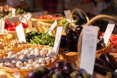 Φρέσκα οργανικά προϊόντα στην αγορά Στοκ φωτογραφίες με δικαίωμα ελεύθερης χρήσης