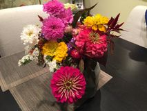 Φρέσκα λουλούδια στο βάζο από το αγρόκτημά σας Στοκ Φωτογραφία