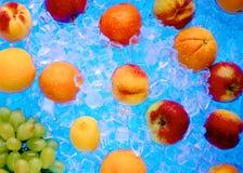 Φρέσκα παγωμένα φρούτα στον πάγο Στοκ Φωτογραφία