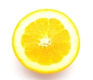 Φρέσκα πορτοκάλια στο άσπρο υπόβαθρο Στοκ εικόνα με δικαίωμα ελεύθερης χρήσης