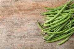 Φρέσκα πράσινα γαλλικά φασόλια στοκ εικόνες