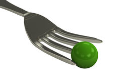 φρέσκα πράσινα μπιζέλια τροφίμων κύπελλων Στοκ Φωτογραφία