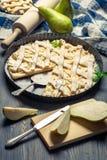 Φρέσκα συστατικά και αχλάδια για την πίτα Στοκ εικόνες με δικαίωμα ελεύθερης χρήσης