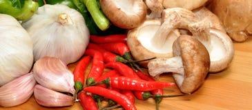 Φρέσκα συστατικά τροφίμων Στοκ Εικόνες