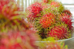 Φρέσκα ταϊλανδικά φρούτα Rambutan Yummy Στοκ Εικόνες